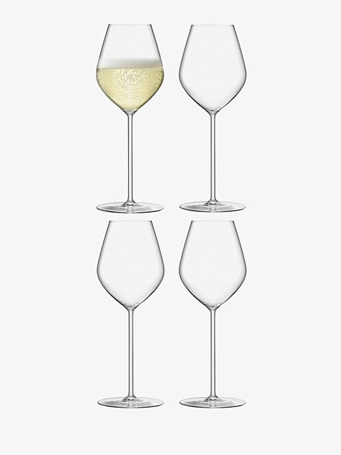 LSA Borough Set of 4 Champagne Tulip Glasses -  280 ml