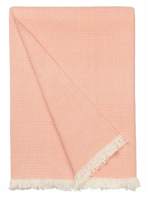 Cosy living elsa throw in cantalope