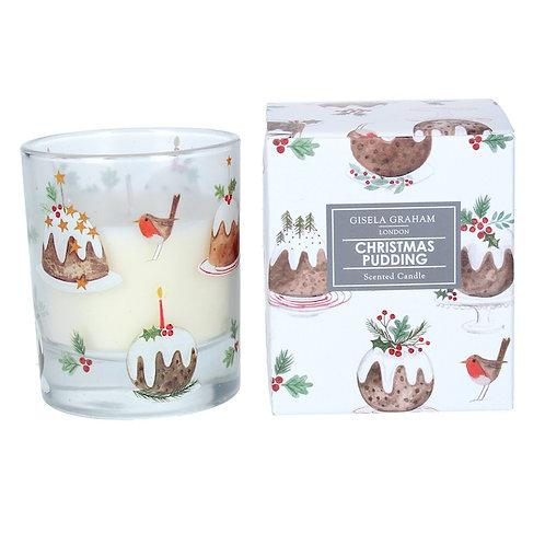 Gisela Graham Christmas Pudding Scented Candle (large)
