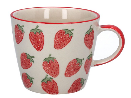 Gisela Graham Strawberry Ceramic Mug