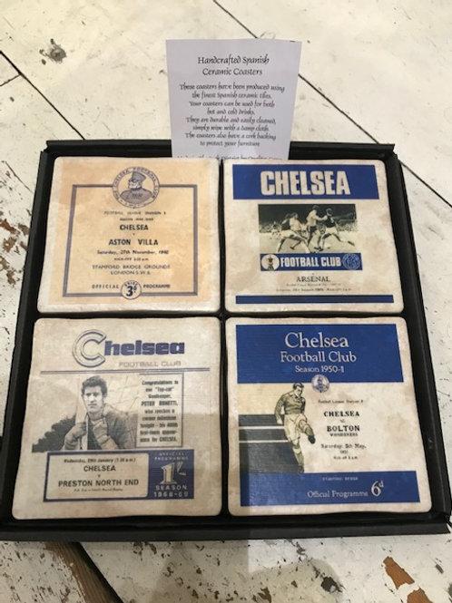 Football program cermaic coaster set of 4 - Chelsea