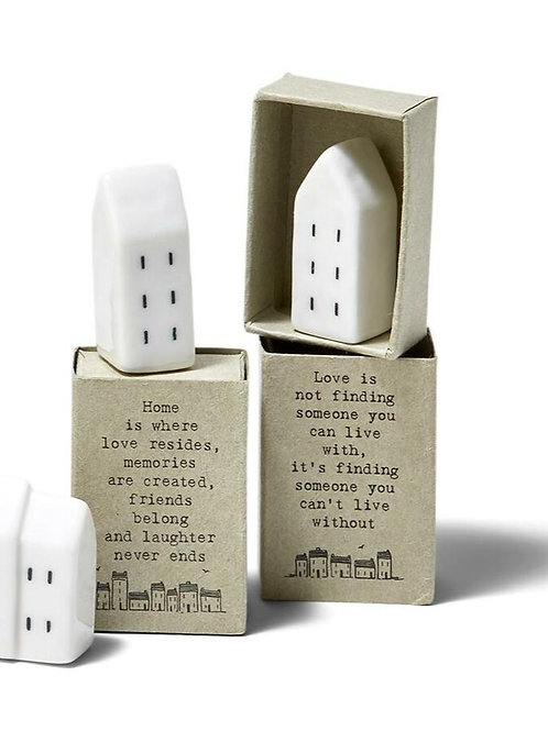 East of india mini porcelain houses in quote box