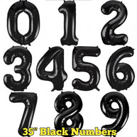 """35"""" Black Numbers"""