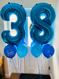 Number Balloon Cluster Blue