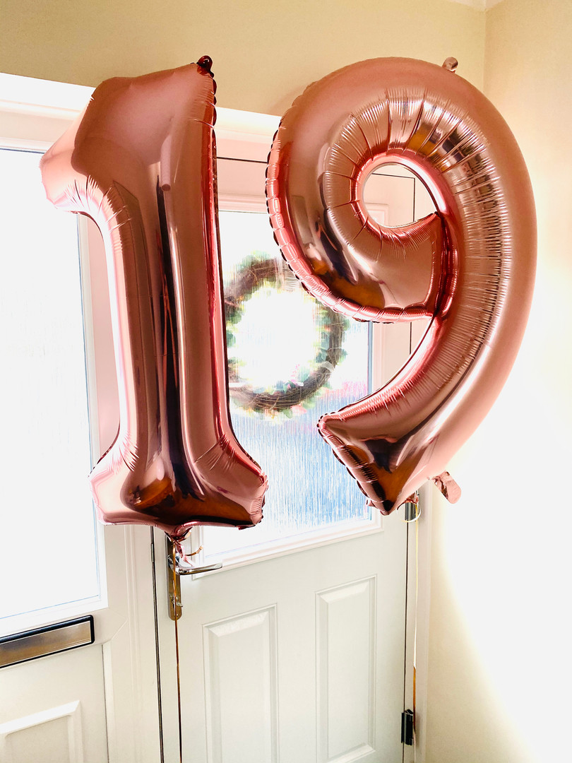 Number balloons Rose gold