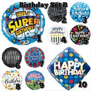 Foil Balloons Birthday Set B