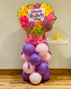 Mini Mothers day balloons tower