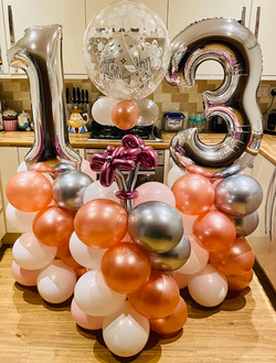 XL Balloon Tower Rose gold & Silver
