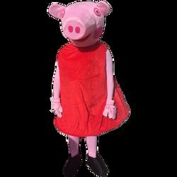Red Pig Mascot