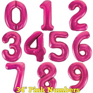 "34"" Pink Numbers"