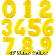 """40"""" Yellow Numbers"""