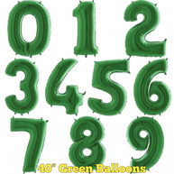 """40"""" Green Numbers"""