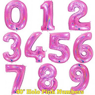 "40"" Holographic Pink Numbers"