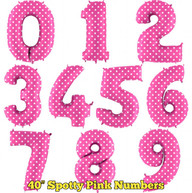 """40"""" Spotty Pink Numbers"""