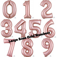 "34"" Rose Gold Numbers"