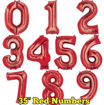 """35"""" Red Numbers"""
