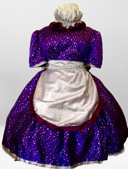 Purple/Silver Glitter Dame
