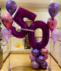 Purple and Mauve 50th Balloons