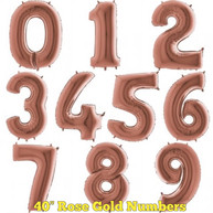 "40"" Rose Gold Numbers"