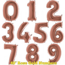 """40"""" Rose Gold Numbers"""