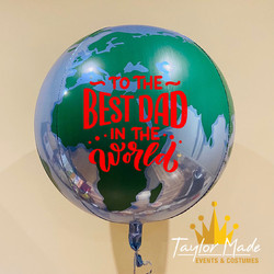 Worlds Best Dad Globe