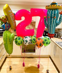 Mexican Balloon Display 27th Birthday