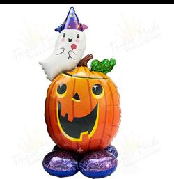 Spooky Ghost Pumpkin Balloon