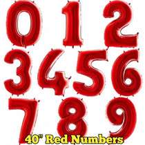 """40"""" Red Numbers"""