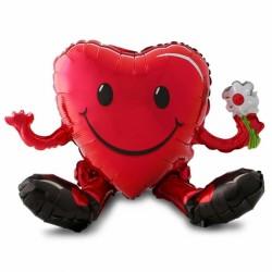Sitting Heart Balloon Character