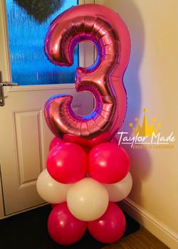 Pink 3rd Birthday Tower