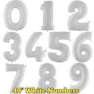 """40"""" White Numbers"""