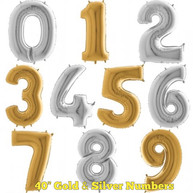 "40"" Gold and Silver Numbers"