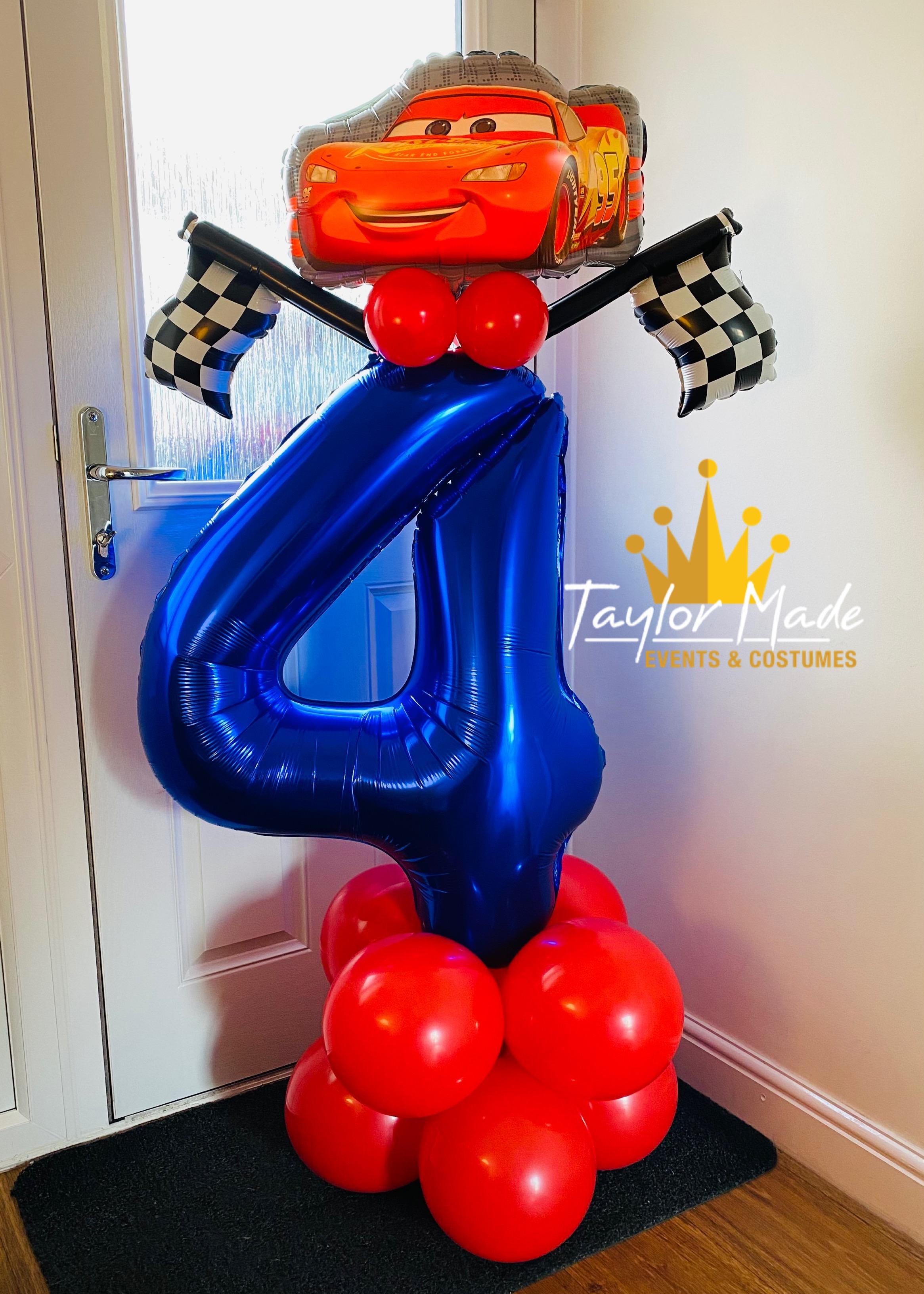 Cars 4th Birthday balloon tower