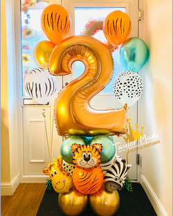 Jungle Theme Balloons Tower