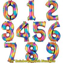 """35"""" Rainbow Splash Numbers"""