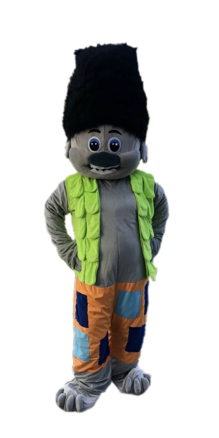 Grey Magic Doll Mascot