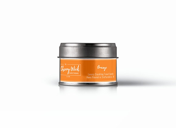 Orange Travel Candle