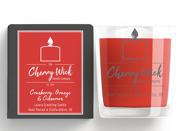 Cranberry, Orange & Cinnamon 30cl Candle