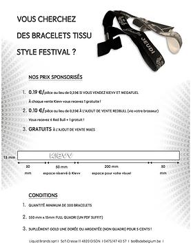 Bracelets personnalisés tissus