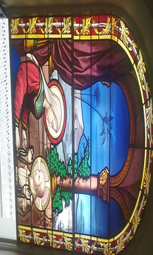 Vitrail Chapelle baie 1 restaurée