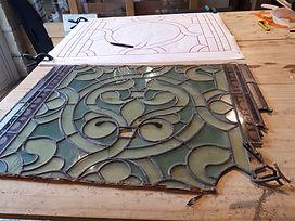 restauration vitrail art roman