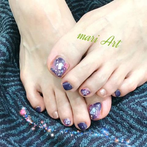 お客様のfoot gel nail♡