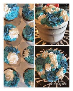 Naked Flower Cake & Cupcakes