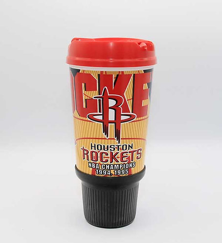 Houston Rockets 32 oz insulated gripper with lid.  Shipping included.