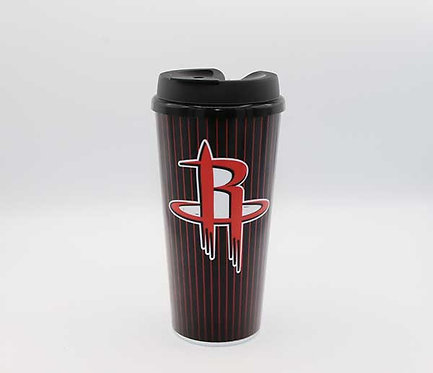 Houston Rockets 24 oz single-wall tumbler with lid.  Shipping included.