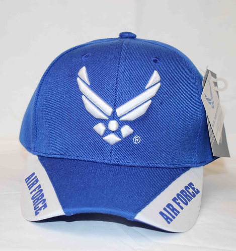 AIR FORCE, 3-way logo cap with official license seal.  Shipping included.