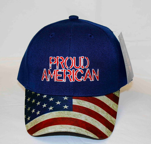 PROUD AMERICAN canvas cap. Shipping included in price.