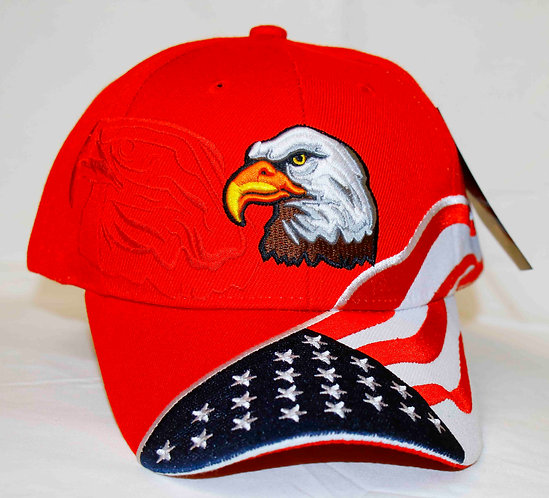 EAGLE/FLAG cap, embroidered flag and eagle.  Shipping included.