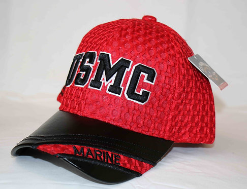 MARINES embroidered cap.  Leather brim.  Shipping included.