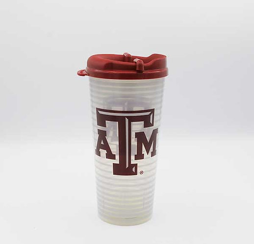 Texas A&M 24 oz insulated tumbler with lid.  Shipping included.